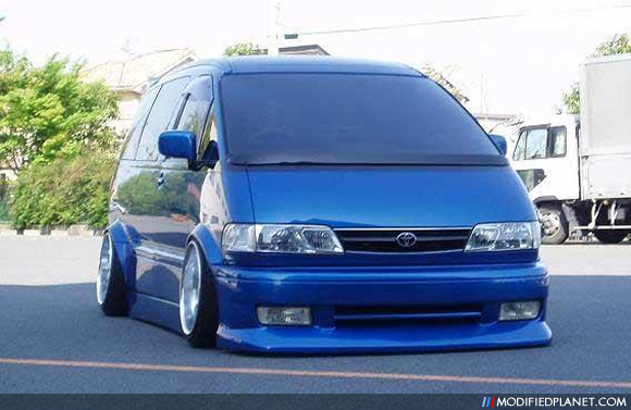 Car Photo Toyota Previa Wide Body Hella Flush Wheels Rims