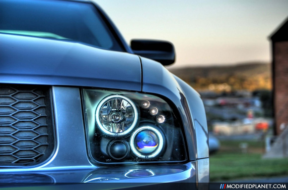 Car Photo Ford Mustang Projector Halo Headlights