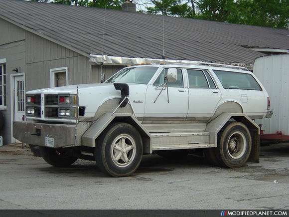 red neck station wagon truck