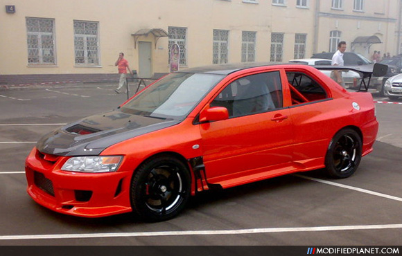 car photo custom modified 2004 mitsubishi evo 8 coupe 2 door