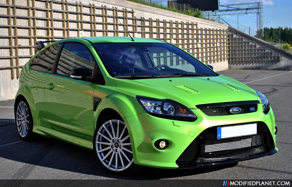 Lime Green 2010 Ford Focus RS MKII