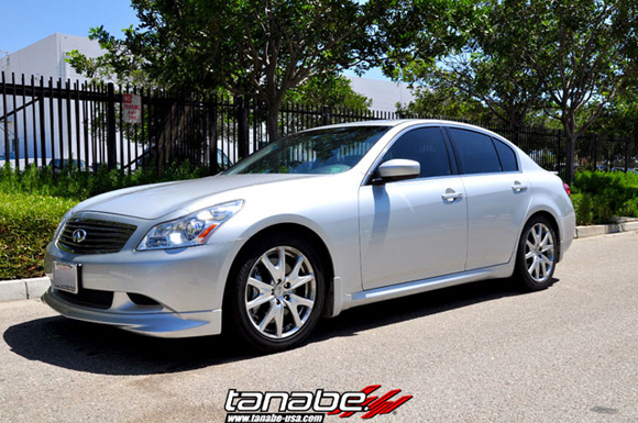 2009 infiniti g37 sedan with tanabe sustec nf210 lowering. Black Bedroom Furniture Sets. Home Design Ideas