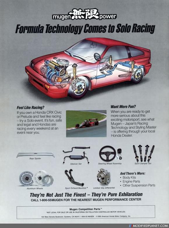 Car Photo Mugen Power Honda Parts Advertisement Ad