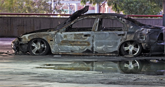1996 Honda Accord Sedan Destroyed By Fire