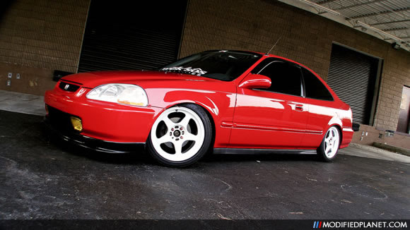 Car Photo Honda Civic Coupe White X Rota Slipstream Wheels on 1999 Acura Cl Coupe