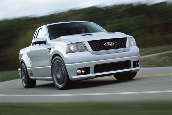 Rolling shot of a 2004 Ford F150 SVT Lightning Concept.