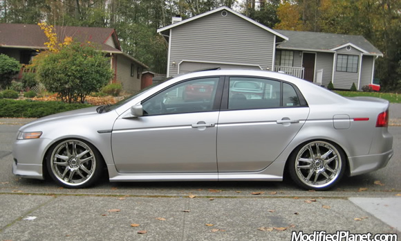 Acura TL Type S With X Volk Racing GTV Wheels - Acura cl type s performance parts