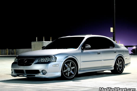 2003 Nissan Maxima Se With 19 Volk Racing Te37 Wheels
