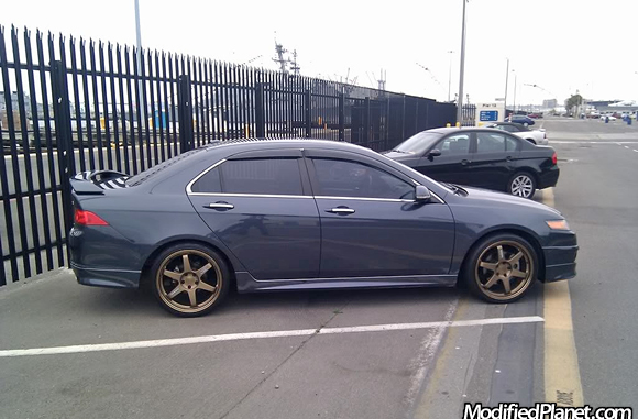 2004 Acura Tsx With Bronze 19 Quot X 8 Quot Volk Racing Te37 Wheels