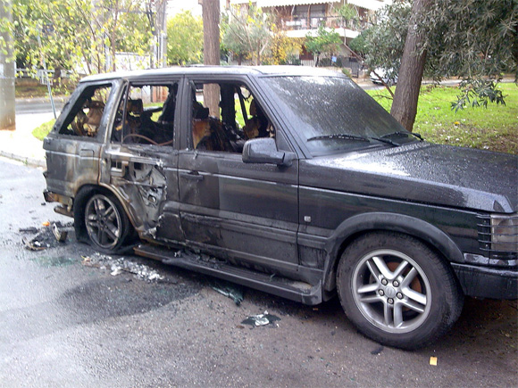 1999 Range Rover Destroyed by Fire