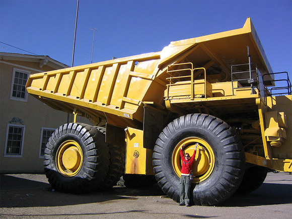 Massive Dump Truck At The Chuquicamata Copper Mines