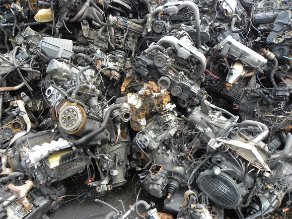 Junkyard Full Of Used Engines