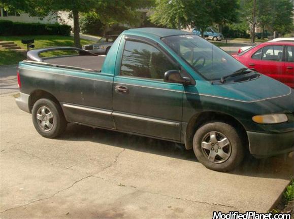 Car Photo Dodge Caravan Two Door Pickup With Spoiler