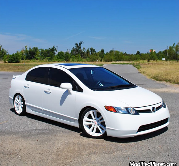 2007 Honda Civic Si Sedan With Oem Factory White Powder