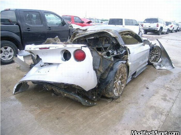 Car Photo Chevrolet Corvette Zr Accident Crash Destroyed on 1995 Acura Integra Gsr