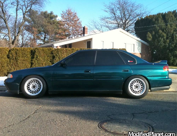 1996 subaru legacy gt with 16 x 8 bmw 740il wheels. Black Bedroom Furniture Sets. Home Design Ideas
