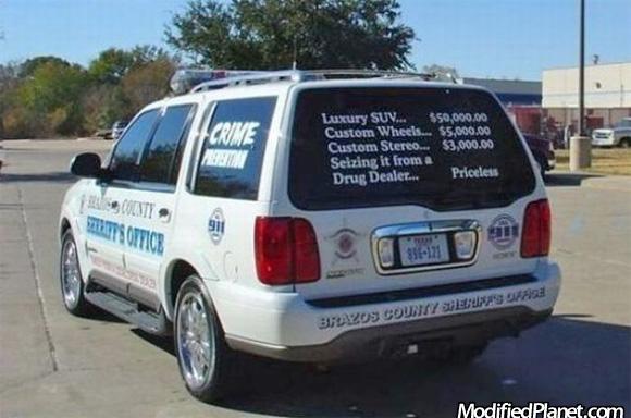 2002 Lincoln Navigator Police Car