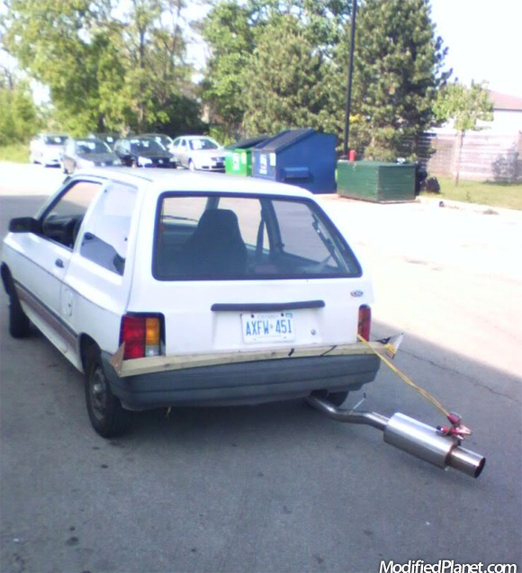 1991 Ford Festiva With Wrong Exhaust System
