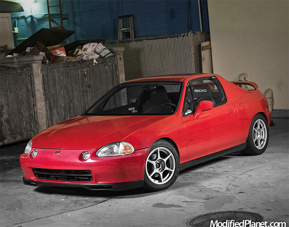 1995 honda del sol with 15 x 7 kosei k1 wheels. Black Bedroom Furniture Sets. Home Design Ideas