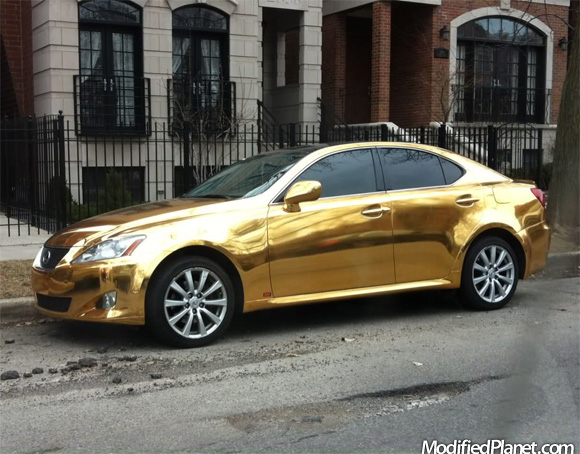 Gold Car Paint