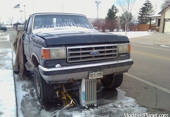 1989 Ford F250 Jacked Up On Space Heater Fail