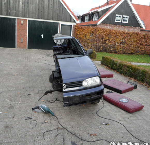 1997 Volkswagen Golf Chopped In Half (2 Pics