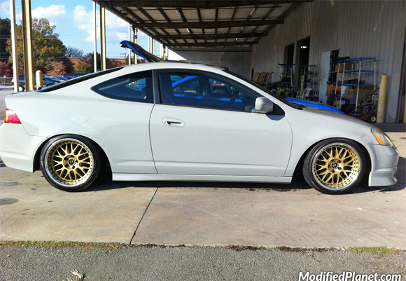 Acura RSX TypeS With Gold X Work VSXX Wheels - Acura rsx type s wheels