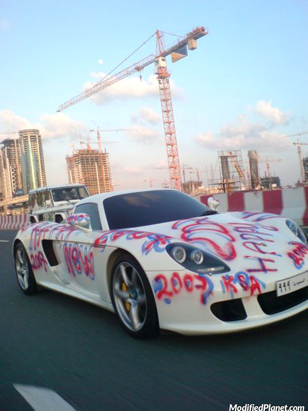 2006 Porsche Carrera Gt Spray Paint Graffiti Fail