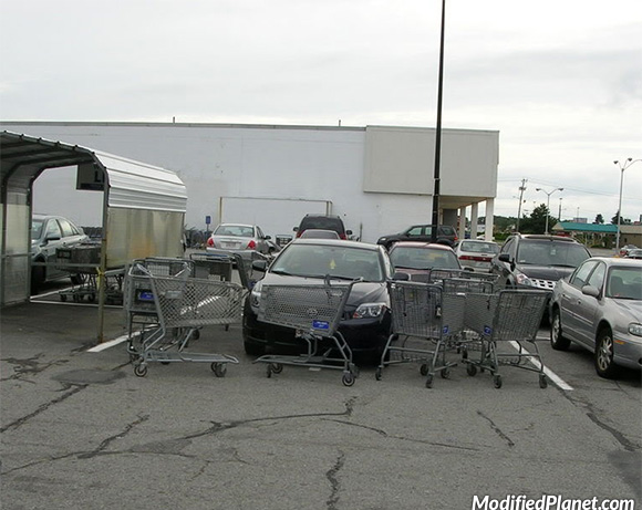car-photo-2009-scion-tc-double-space-parking-fail-surrounded-by-shopping-carts