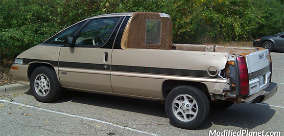 1990 Oldsmobile Silhouette Converted Into Pickup Truck Fail