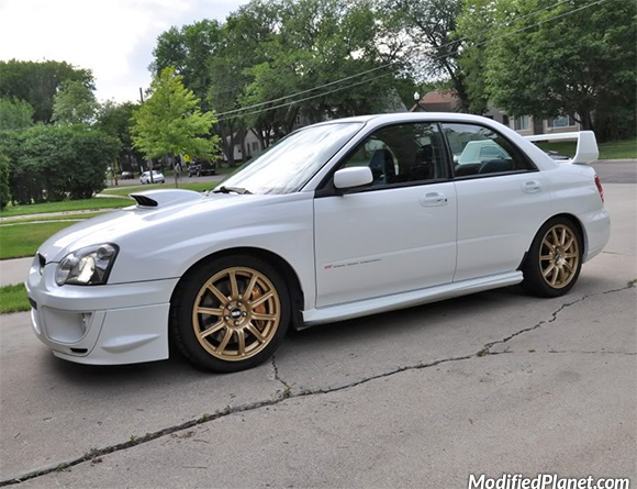 Car Photo 2004 Subaru Sti Aspen White Tein Flex Coilovers