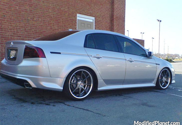 2005 acura tl a spec with 19 x 8 5 racing hart j8 wheels. Black Bedroom Furniture Sets. Home Design Ideas