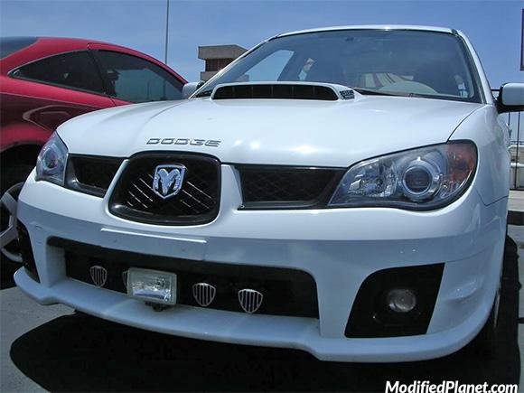 2007 Subaru Wrx With Dodge Ram Emblem Fail
