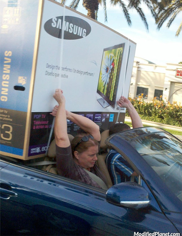car photo 2008 lexus sc430 samsung lcd tv television hold with hand fail