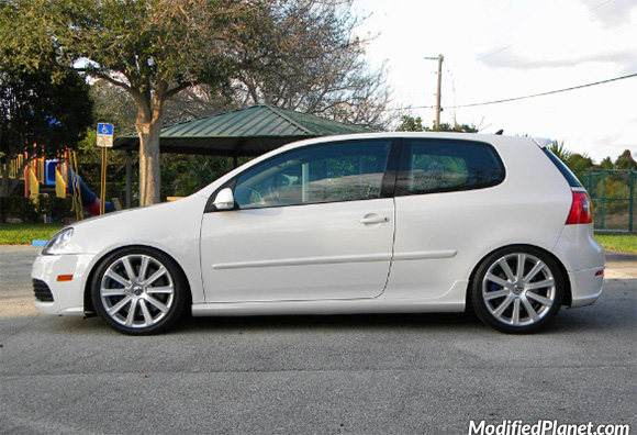Car Photo Volkswagen R Candy White Fk Silverline X Coilovers