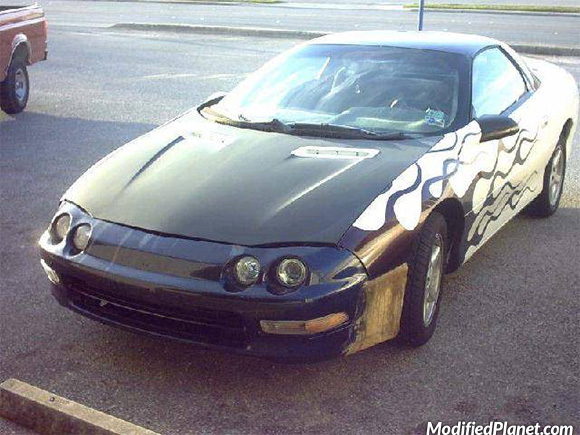 Car Photo Chevrolet Camaro Acura Integra Front Bumper And Headlights Fail