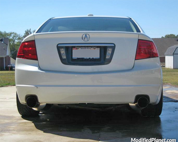 Acura TL With Greddy EVO Catback Exhaust System - Acura tl exhaust system