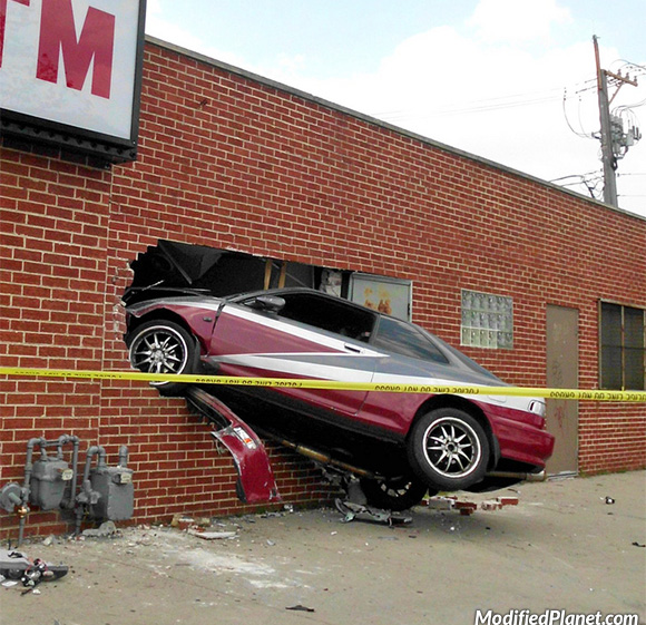 1992 Acura Integra Drives Into Side Of Building Fail