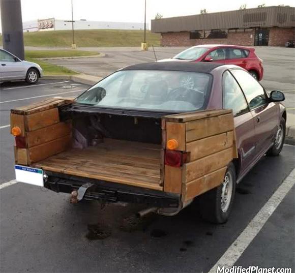 1994 Honda Civic Coupe Wood Pickup Truck Fail