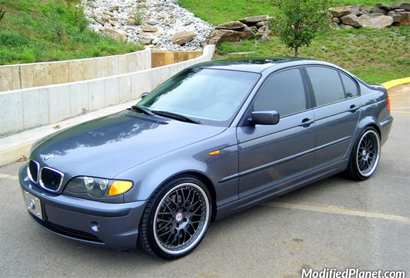 2002 bmw 325i sedan with 19 hre 540r wheels. Black Bedroom Furniture Sets. Home Design Ideas