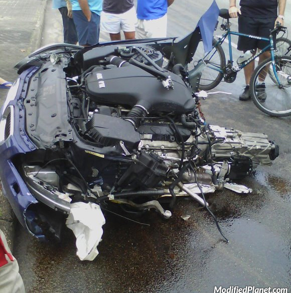 2010 Bmw M5 Car Crash Splits Sedan In Two Pieces 2 Pics