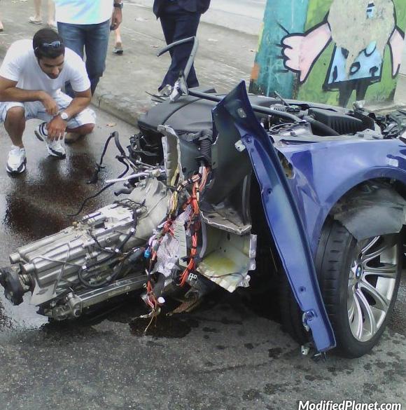 2010 Bmw M5 Car Crash Splits Sedan In Two Pieces 2 Pics