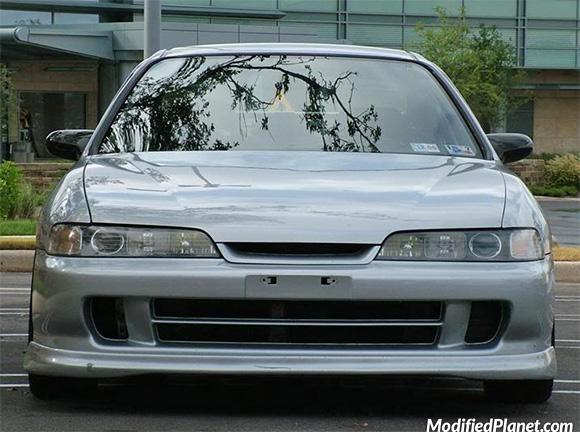 Car Photo Acura Integra Rs Jdm Front End Conversion Close Up Brilliant Silver Metallic