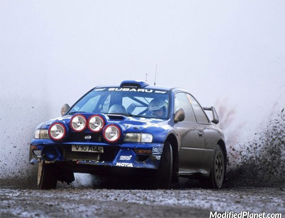 1998 Subaru Impreza 2 5rs Rally Car On Dirt Track