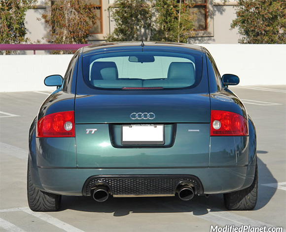 2000 audi tt with apr tuning stainless steel dual exhaust. Black Bedroom Furniture Sets. Home Design Ideas