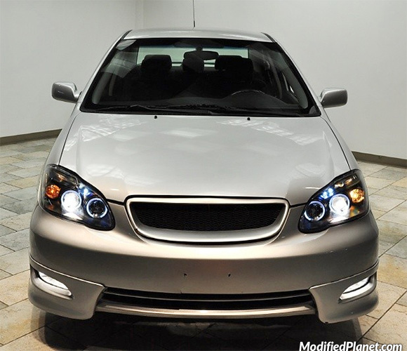 2005 toyota corolla with smoked projector headlights. Black Bedroom Furniture Sets. Home Design Ideas