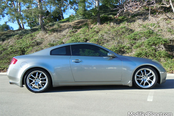 2003 Infiniti G35 Coupe with Eibach Pro-Kit Lowering Springs