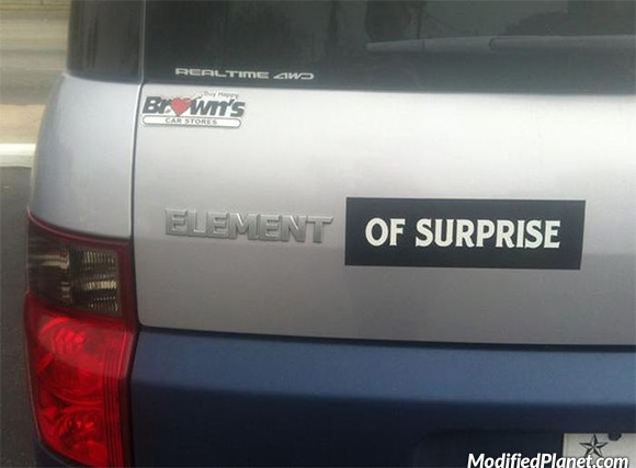 car-photo-2007-honda-element-of-surprise-bumper-sticker