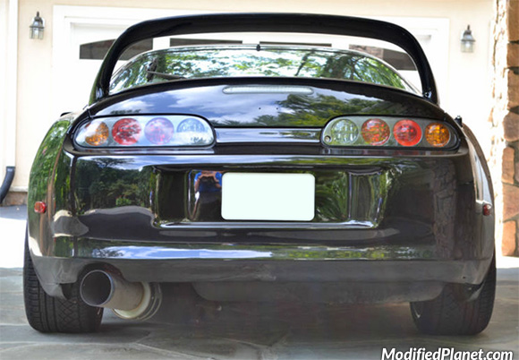 1998 Toyota Supra Turbo With Hks Carbon Ti Exhaust System