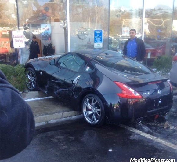 2013 Nissan 370Z Drives Into Dealership Window